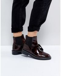 ASOS - Red Asos Adel Leather Ring Ankle Boots - Lyst