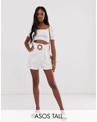 Pantalones cortos ASOS de color White