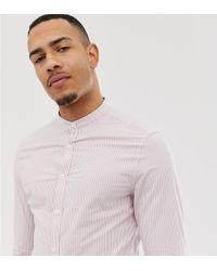 Camisa de vestir a rayas y ajustada en rosa ASOS de hombre de color Pink