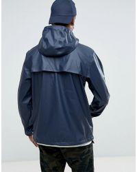 Herschel Supply Co. Blue Herschel Forecast Hooded Coach Jacket Waterproof In Navy Uk Exclusive for men