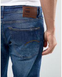 G-Star RAW Blue 3301 Straight Accel Stretch Denim Jeans for men