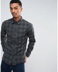 Jack & Jones - Black Checked Shirt for Men - Lyst