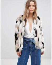 Lavand - Multicolor Multi Colored Faux Fur Jacket - Lyst