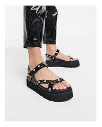 Simmi London - Izzie - Sandales chunky ornées style sport SIMMI Shoes en coloris Black