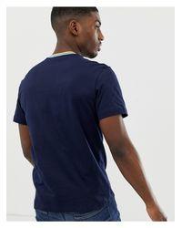 T-shirt à bordures contrastantes - Bleu marine Lacoste pour homme en coloris Blue