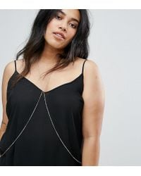 ASOS - Metallic Chain Body Harness - Lyst