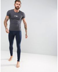 Emporio Armani - Gray Muscle Fit T-shirt In Dark Grey for Men - Lyst
