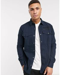 Superdry Blue Utility Field Edition Long Sleeve Shirt for men