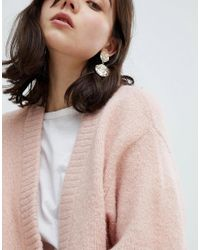 Pieces Pink Glitter Knit Cardigan