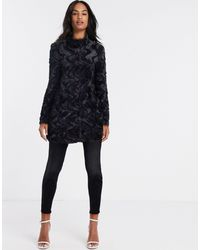 Vero Moda Black Faux Fur Coat