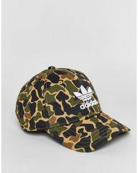 Adidas Originals - Green Camo Print Cap - Lyst