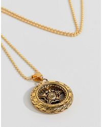 Seven London - Metallic Gold Pendant Necklace for Men - Lyst