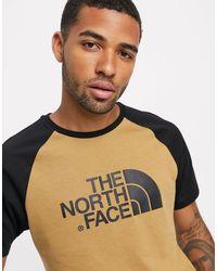 T-shirt basic marrone con maniche raglan di The North Face in Multicolor da Uomo