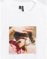 Vero Moda White Vero Mode Petite T-shirt With Motif