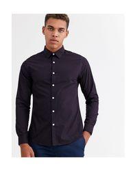 New Look Purple Regular Fit Poplin Shirt for men