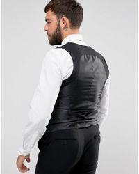 Only & Sons Black Skinny Tuxedo Vest for men