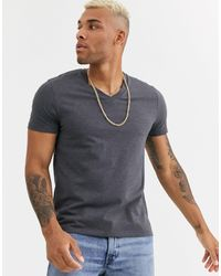 Camiseta con cuello en V en antracita marga ASOS de hombre de color Multicolor