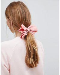 ASOS - Pink Bow Barrette Hair Clip - Lyst