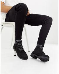 Bottes en nubuck à lacets Jack & Jones pour homme en coloris Black