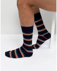 Paul Smith   Blue Artist Block Stripe Socks In Navy for Men   Lyst
