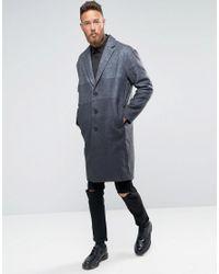 Rogues Of London Blue Gradient Overcoat for men
