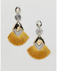 ASOS Metallic Luxe Tassel Earrings