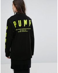 PUMA - Exclusive To Asos Oversized Long Sleeve T-shirt In Black - Lyst