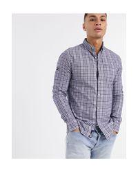 Camisa Oxford Superdry de hombre de color Blue