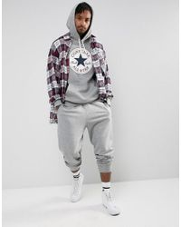 Converse - Core Graphic Pullover Hoodie In Gray 10005598-a02 for Men - Lyst