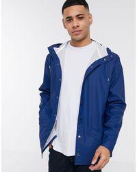 Синяя Легкая Куртка С Капюшоном -синий Rains для него, цвет: Blue