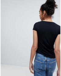 Armani Exchange - Black Scoop Neck Ax Logo T-shirt - Lyst