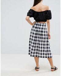 ASOS Multicolor Linen Prom Skirt