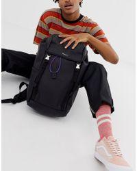 Черный Рюкзак Из Искусственной Кожи С Двумя Лямками И Контрастной Резинкой ASOS для него, цвет: Multicolor