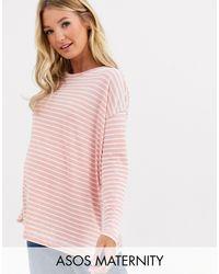 Camiseta extragrande ASOS de color Pink