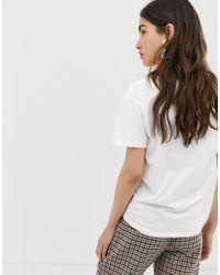 T-shirt con scritta di Ichi in White