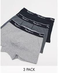 Pepe Jeans – Ezra – 3er-Pack Unterhosen in Black für Herren