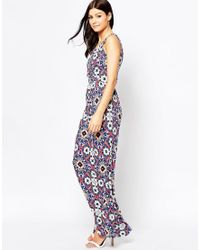 French Connection - Blue Electric Mosaic Jersey Maxi - Lyst