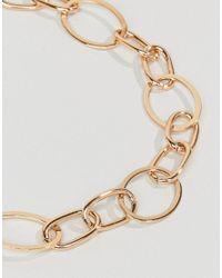 Mango - Metallic Chain Necklace - Lyst