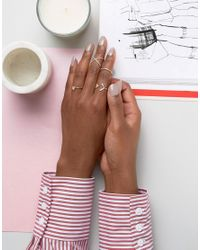 ALDO - Metallic Amilina Cut Out Stacking Rings - Lyst