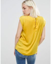 Soaked In Luxury - Yellow Plisse Top - Lyst