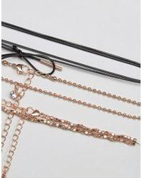 ALDO - Metallic Delicate Rose Gold Wraparound Choker Necklace - Lyst