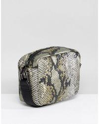 Nali - Yellow Snake Effect Boxy Across Body Bag - Lyst