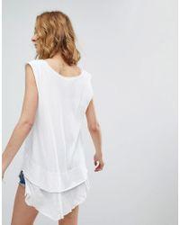 Free People White Peachy Vest