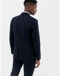 Giacca da abito slim di Only & Sons in Blue da Uomo