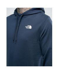 Drew Peak - Felpa blu navy leggera con logo sul cappuccio di The North Face in Blue da Uomo