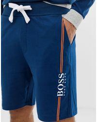 Bodywear - Short à logo authentique - Bleu marine BOSS by Hugo Boss pour homme en coloris Blue