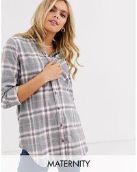 New Look Gray – Langärmliges Hemd