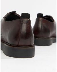 Красные Кожаные Туфли Дерби -красный H by Hudson для него, цвет: Multicolor