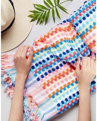 Seafolly - Blue Rainbow Beach Towel - Lyst
