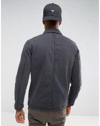 ASOS Tall Denim Worker Jacket In Washed Black for men